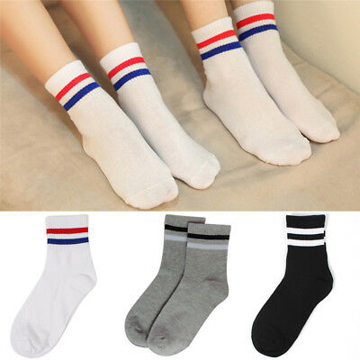 Unisex Creative Harajuku Striped Cotton Skateboard Sock Casual Couples Socks CR