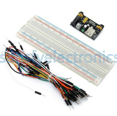 400//830 MB102 Point Breadboard 1660 Power Supply Modul W 65PCS Jump Wire AHS