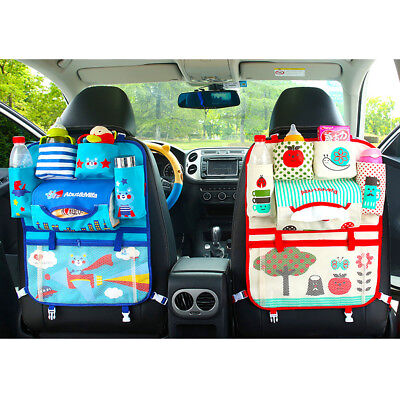 Cartoon Car Seat Storage Bag Chair Back Stroller Hanging Bag Organizer Holder