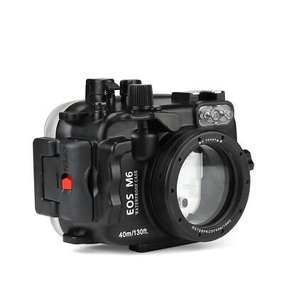 SeaFrogs 130ft Waterproof Underwater Camera Housing for Canon EOS M6 22mm Lens