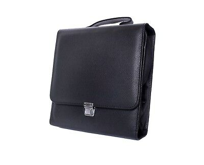 Desang Roll-up Black Diabetes Kitbag in Black 100% Leather or Microfibre