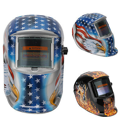 Auto Darkening Welding Helmet Grinding Function Welders Mask Solar Powered UK