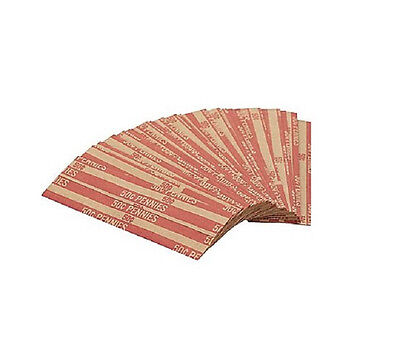 ( 40 ) FLAT CENT PENNYS COIN WRAPPERS.  Shipped FIRST Class