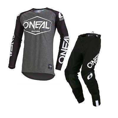 Oneal Mayhem ADULT Hexx MX Motocross Racing Jersey and Pants 2019 BLACK