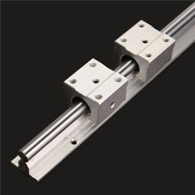 SBR12-600mm Fully Supported Linear Bearing Rails Shaft Rod + 2pc SBR12UU Block