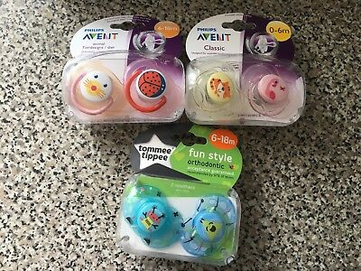 Tommee Tippee / Avent Baby Dummy collection 0-6m / 6-18m