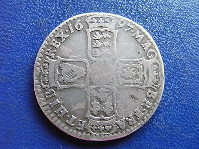 William III 1697 silver Halfcrown