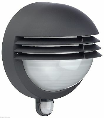 Philips By Massive Boston Louvred Head Die Cast Black Ip44 Outside Pir Light