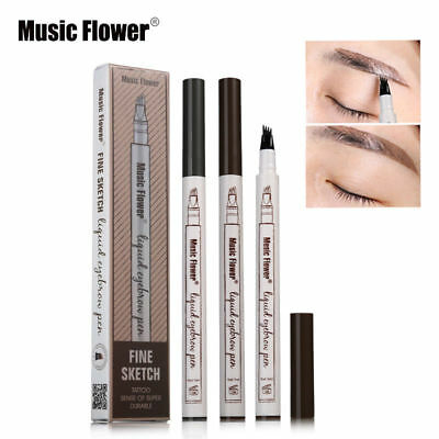 Eyebrow Tattoo Pen Waterproof Fork Tip Patented Microblading Makeup Sketch WD