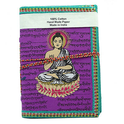 Recycled Handmade Paper Memo Notepad Lord Buddha Pocket Mantra Notebook CD914A