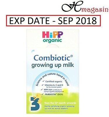 HiPP Organic 3 From the 12th month onwards Growing up milk 600g ( Exp- 9/18)