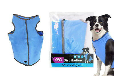 Pet Cooling Dog Vest Reflective Lightweight Reusable 6 Hours Cool One Size