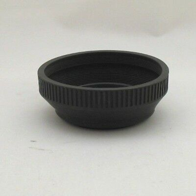 Collapsible Rubber Lens Hood Shade For Digital Camera/slr 49Mm