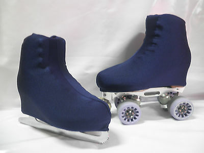 Plain Navy Boot Covers for RollerSkates and Ice Skates  Small only