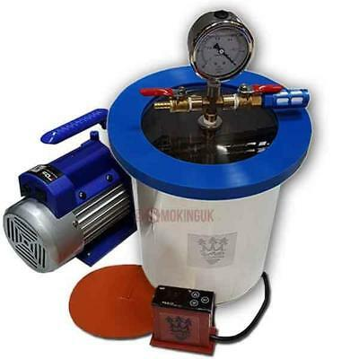 SMO-KING Vacuum Degassing Chamber 1.5 Gallon Steel 6.8 Litre - Full Kit