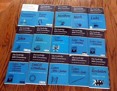 Lot of 15 Vintage New Testament The Cambridge Bible Commentaries on the New Engl
