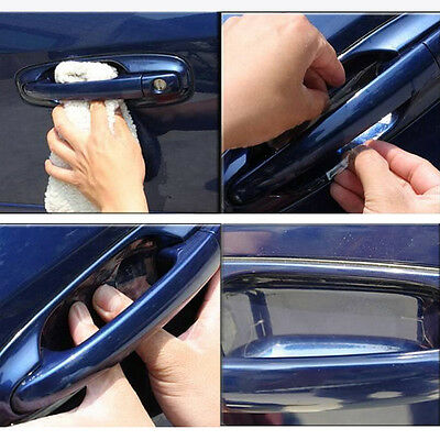 Lovely 8 pcs Car Door Handle Scratch Guard Protector Cover Molding THF2