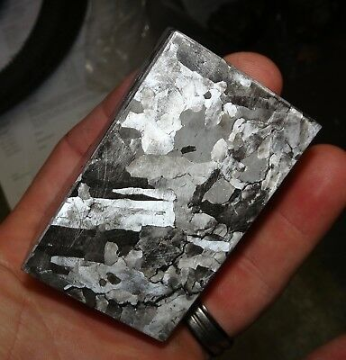 Beautiful 464 Gm. Etched Campo Del Cielo Meteorite Cube