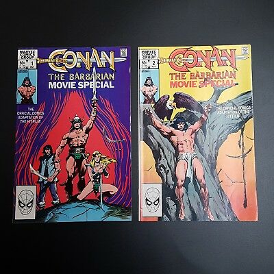 Conan the Barbarian Movie Special - Marvel Comics - Issues 1 & 2 (1982)