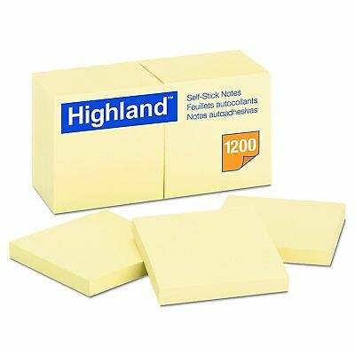Yellow Self Stick 3 X 3 Accordion Style Pop Up Post It Notes 100 Sheets 12 Pads