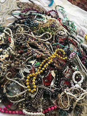 "Large Vintage to Now Estate Find Jewelry Lot, ""JUNK DRAWER"" Necklaces Untested"