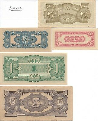 JAPANESE INVASION NOTES - MALAYA - 8 notes in total