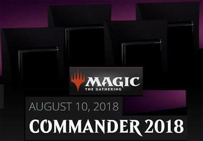 MTG Magic the Gathering Sealed Commander 2018 deck set (4 total) box