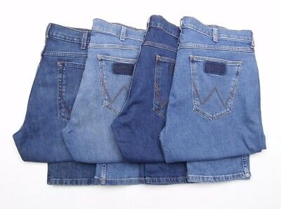 Mens Wrangler Greensboro stretch straight fit jeans FACTORY SECONDS WA121
