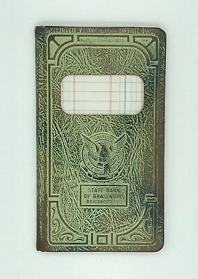 Vintage State Bank Of Braidwood IL Bank Book Never Used