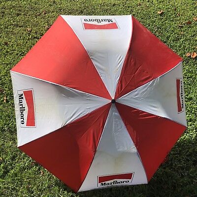 Vintage Huge Marlboro Large Retractable Umbrella