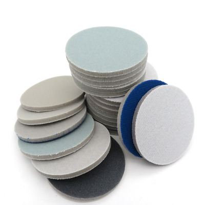 "3"" 75mm Wet Dry Sponge Foam Sanding Pad Discs Hook Loop 300-3000 Grit Cellphone"