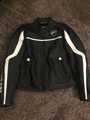 """Ducati by Dainese """"Twin"""" Ladies Leather Motorcycle Jacket - Women's Size 42"""