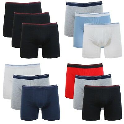 Mens Cotton Stretch Boxer Briefs Soft Colors Comfort Tagless Trim NWT NEW 3-Pack