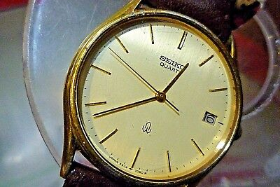 SEIKO 5932-7040 6 jewel Quartz  1980 Vintage Mens Mid-Size 31mm Watch