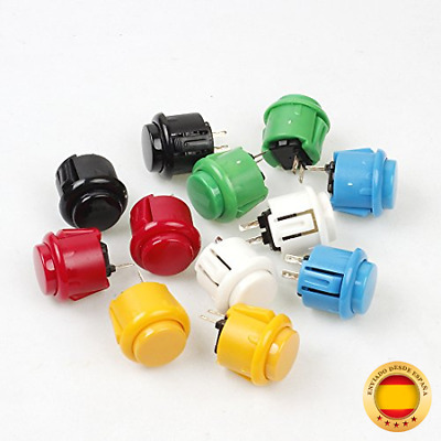 EG STARTS 12x 24mm OEM Arcade Buttons Switch Perfect Replace para Sanwa OBSF-24