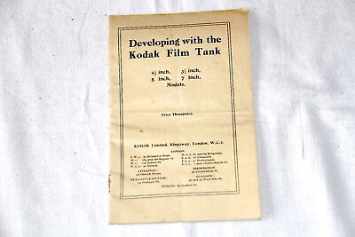 Instruction Booklet Developing with the Kodak film tank 16 pages