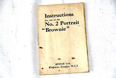 Vintage Instruction manual for use of No.2 Portrait Brownie camera