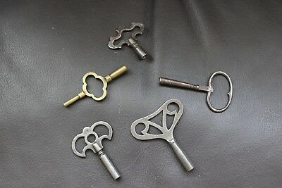 5 Assorted Clock Keys