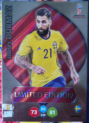 Jimmy Durmaz, Limited Edition, Adrenalyn XL FIFA World Cup 2018 Russia, Panini