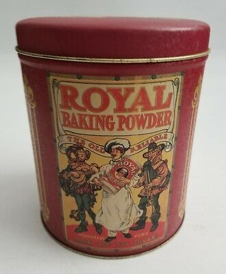 Royal Baking Powder Empty Tin Vintage Metal Food Spice Container Old Reliable
