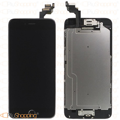 Display Iphone 6 Plus Assemblato Completo Fotocamera Tasto Altoparlante Nero