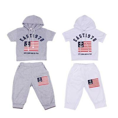 Hooded T-shirt And Pants Suits