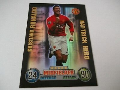 Match Attax 2007/08 Cristiano Ronaldo Hat-Trick Hero 07/08