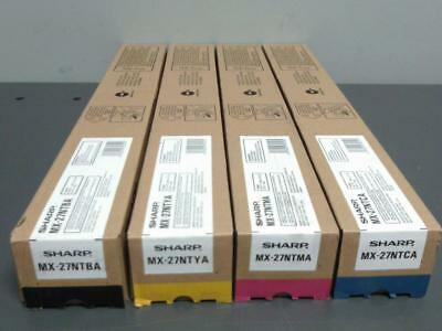 New Genuine SHARP MX-27NT BA YA MA CA Color Toner Set