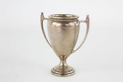 Vintage 1930s .925 hallmarked sterling silver niniature trophy / cup 35g