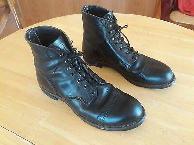 Red Wing Iron Ranger 8086 leather boots Charcoal