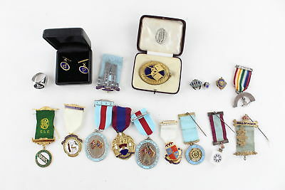 Job Lot Assorted Vintage MASONIC & R.A.O.B Medals, Jewels, Cufflinks