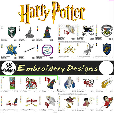 48 Harry Potter Embroidery Machine Designs Files Brother Janome Pes
