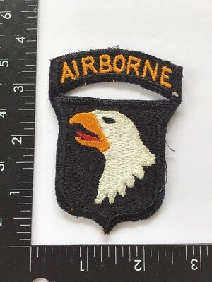Original Ww2 Us Army 101St Airborne Division Patch W/ Attached Tab No Glow Rare