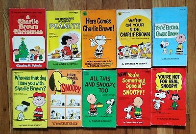 Snoopy/Peanuts/Charlie Brown Book Lot of 10